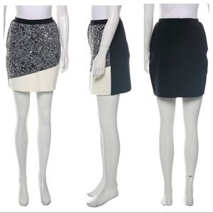 BALENCIAGA Patterned Mini Skirt